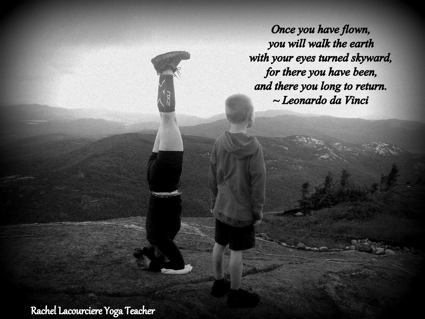 Once you have flown, you will walk the earth with your eyes turned skyward, for there you have been, and there you long to return.  ~ Leonardo da Vinci